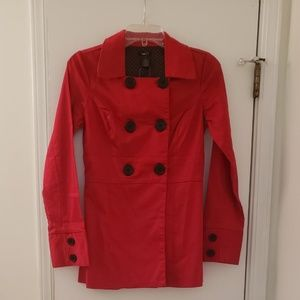 Rue 21 Red Cotton Spandex Jacket NWT Size Small